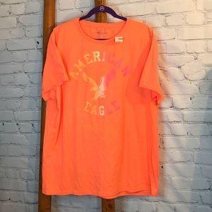 NWT American Eagle Men's XXL Neon Orange T-Shirt
